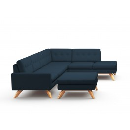 Vind Sectional Sofa With Ottoman & Bumper