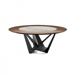 Skorpio Keramic-Wood Round Table