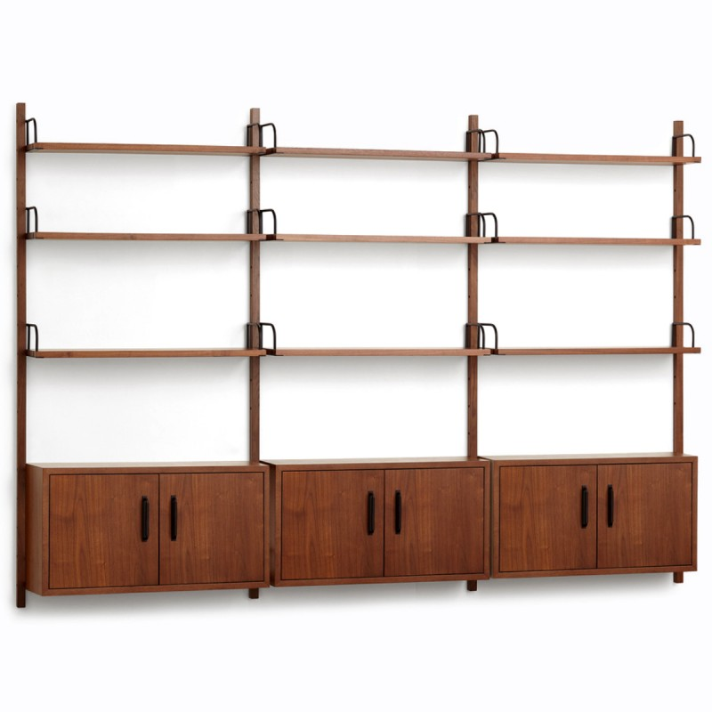 Heart Triple Modular Shelving Unit with 3 Cabinets