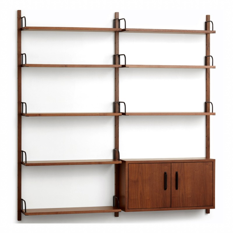 Heart Double Modular Shelving Unit with Cabinet